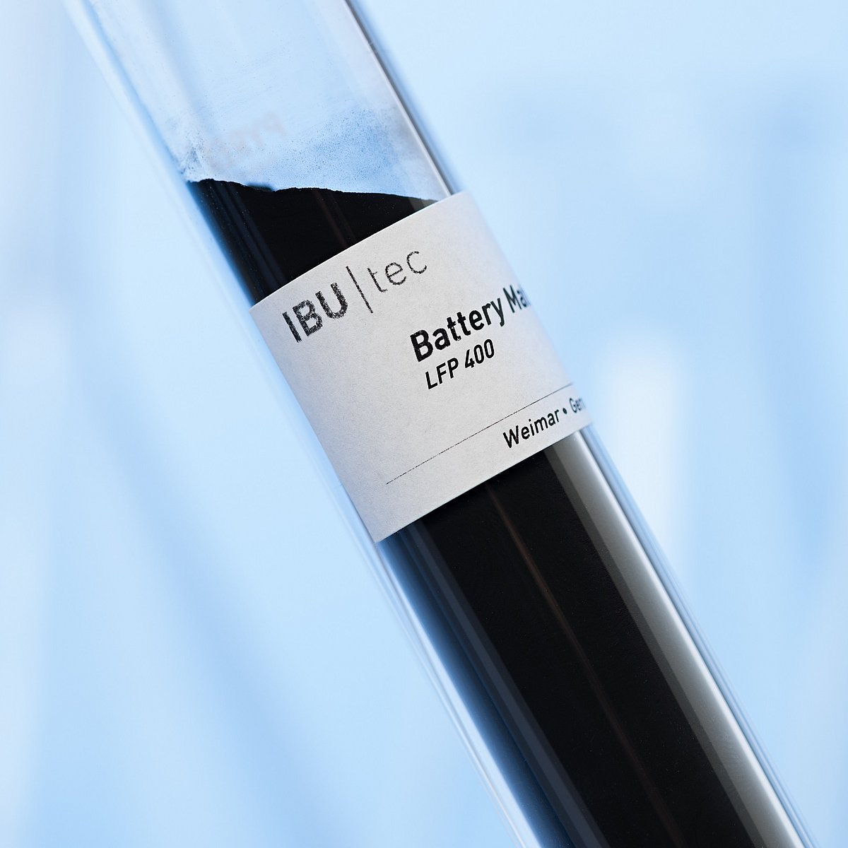 Lithium Iron Phosphate LFP 400 is a battery material produced by IBU-tec