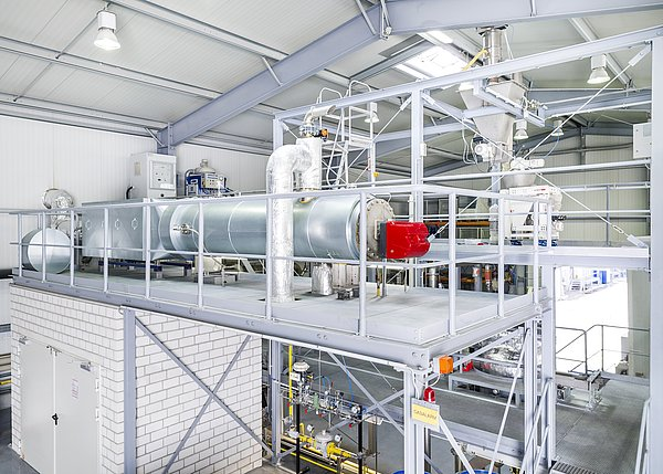 DeNox System for exhaust gas treatment and scrubbing at the IBU-tec plant for ancillary equipment